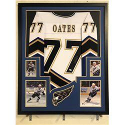 Adam Oates Signed 34x42 Custom Framed Jersey Display (JSA COA)