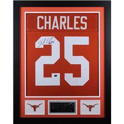 Jamaal Charles Signed 24x30 Custom Framed Jersey (GTSM COA  Charles Hologram)