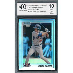 2010 Bowman Chrome 18U USA Baseball Refractors #18BC8 Bryce Harper (BCCG 10)