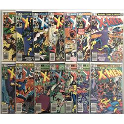 """Lot of (14) 1980 Marvel """"Uncanny X-Men"""" 1st Series Comic Books with #142-155"""