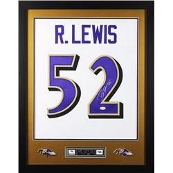 Ray Lewis Signed 24x30 Custom Framed Jersey (JSA COA)