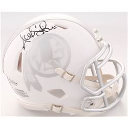 Alex Smith Signed Washington Redskins White ICE Speed Mini Helmet (Beckett COA)