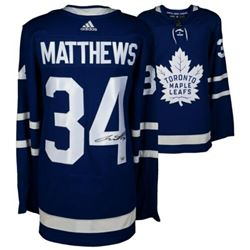 Auston Matthews Signed Toronto Maple Leafs Authentic Adidas Jersey (Fanatics Hologram)