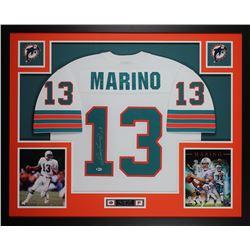 Dan Marino Signed 35x43 Custom Framed Jersey (Beckett COA)