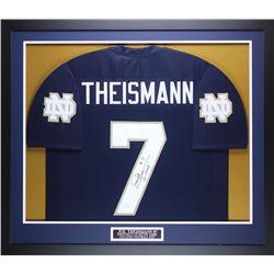 "Joe Theismann Signed 35"" x 43"" Custom Framed Jersey Inscribed ""Go Irish!"" (JSA COA)"