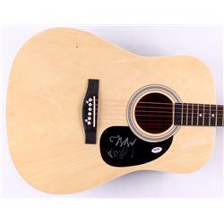 """Seth Avett  Scott Avett Signed 41"""" Huntington Acoustic Guitar (PSA COA)"""