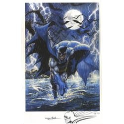 """Neal Adams Signed """"Batman"""" 13.5x21 Limited Edition Giclee with Sketch (PA LOA)"""