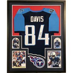 Corey Davis Signed 34x42 Custom Framed Jersey (JSA COA)