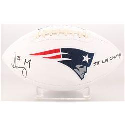 """Sony Michel Signed New England Patriots Logo Football Inscribed """"SB LIII Champs"""" (Beckett COA)"""