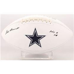 """Gil Brandt Signed Dallas Cowboys Logo Football Inscribed """"HOF 19"""" (Beckett COA)"""