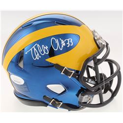 Taco Charlton Signed Michigan Wolverines Chrome Speed Mini-Helmet (JSA COA)