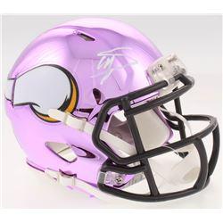 Stefon Diggs Signed Minnesota Vikings Chrome Speed Mini-Helmet (JSA COA)