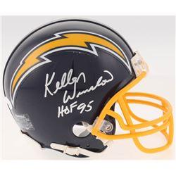 "Kellen Winslow Signed San Diego Chargers Mini-Helmet Inscribed ""HOF 95"" (JSA COA)"