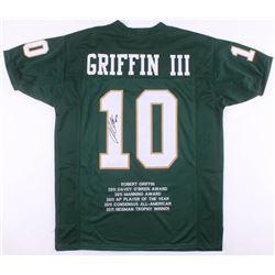Robert Griffin III Signed Career Highlight Stat Jersey (JSA COA)