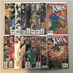 """Lot of (36) 1990-1997 Marvel """"Uncanny X-Men"""" 1st Series Comic Books with #261-343, Annual #15"""