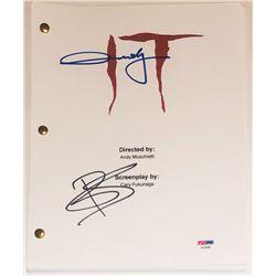 "Andy Muschietti  Bill Skarsgard Signed ""IT"" Movie Script (PSA COA)"