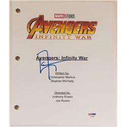 "Don Cheadle Signed ""Avengers: Infinity War"" Movie Script (PSA COA)"