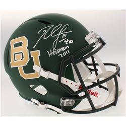 "Robert Griffin III Signed Baylor Bears Full-Size Matte Green Speed Helmet Inscribed ""Heisman 2011"" ("