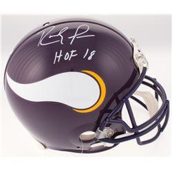 "Randy Moss Signed Minnesota Vikings Full-Size Authentic On-Field Helmet Inscribed ""HOF 18"" (JSA COA)"