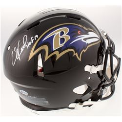 """Ed Reed Signed Baltimore Ravens Full-Size Authentic On-Field Speed Helmet Inscribed """"HOF 19"""" (Becket"""