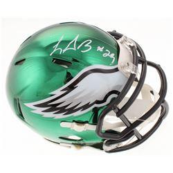 LeGarrette Blount Signed Philadelphia Eagles Chrome Speed Mini-Helmet (Radtke COA)