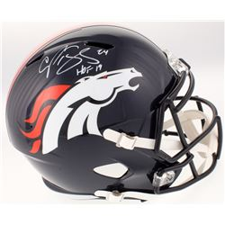 "Champ Bailey Signed Denver Broncos Full-Size Helmet Inscribed ""HOF 19"" (JSA COA)"