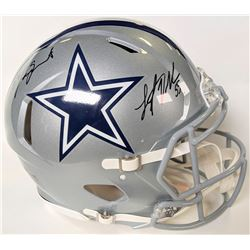 Leighton Vander Esch  Jaylon Smith Signed Dallas Cowboys Full-Size Authentic On-Field Speed Helmet (