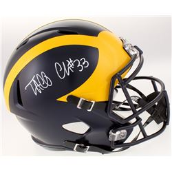 Taco Charlton Signed Michigan Wolverines Full-Size Speed Helmet (Beckett COA)