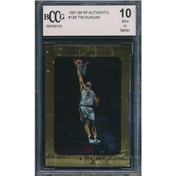 1997-98 SP Authentic #128 Tim Duncan RC (BCCG 10)