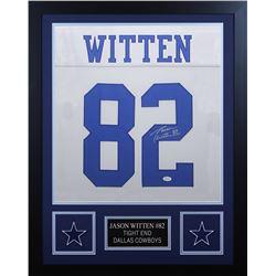 Jason Witten Signed 24x30 Custom Framed Jersey (JSA COA  Witten Hologram)
