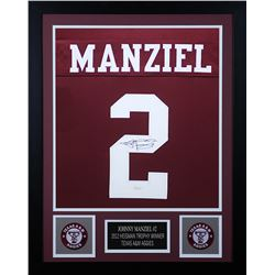 Johnny Manziel Signed 24x30 Custom Framed Jersey (JSA COA)