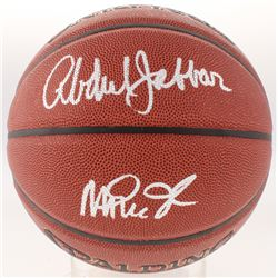 Magic Johnson  Kareem Abdul-Jabbar Signed Basketball (Schwartz COA)