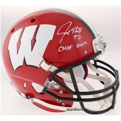 "Joe Thomas Signed Wisconsin Badgers Full-Size Helmet Inscribed ""CHOF 2019"" (Schwartz Sports COA)"