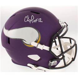 """Chris Doleman Signed Minnesota Vikings Full-Size Speed Helmet Inscribed """"HOF 12"""" (Radtke COA)"""