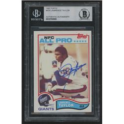 Lawrence Taylor Signed 1982 Topps #434 RC (BGS Encapsulated)