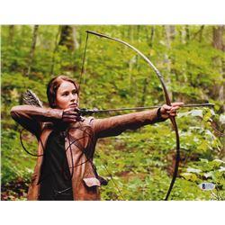 "Jennifer Lawrence Signed ""The Hunger Games"" 11x14 Photo (Beckett COA)"