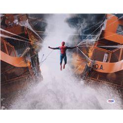 "Tom Holland Signed ""Spider-Man"" 11x14 Photo (PSA COA)"