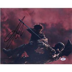"""Jason Momoa Signed """"Justice League"""" 11x14 Photo (PSA COA)"""