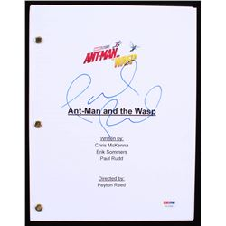 """Paul Rudd Signed """"Ant-Man and the Wasp"""" Movie Script (PSA COA)"""