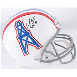"Earl Campbell Signed Houston Oilers Full-Size Helmet Inscribed ""HOF 91"" (Schwartz Sports COA)"