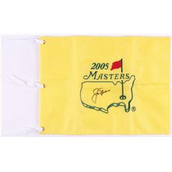 Jack Nicklaus Signed 2005 Masters Pin Flag (JSA LOA)