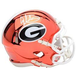 Todd Gurley Signed Georgia Bulldogs Chrome Mini Speed Helmet (Fanatics Hologram)