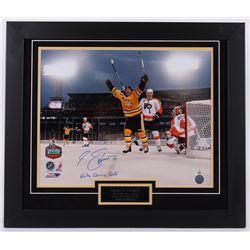 Marco Sturm Signed Bruins 23.5x27.5 Custom Framed Photo Display (Sturm Hologram)