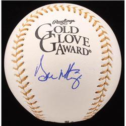 Don Mattingly Signed Gold Glove Award Baseball (JSA COA)