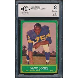 1963 Topps #44 Deacon Jones RC (BCCG 8)