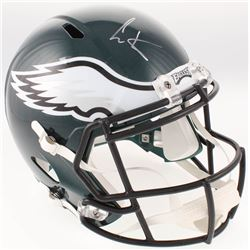 Cris Carter Signed Philadelphia Eagles Full-Size Speed Helmet (JSA COA)