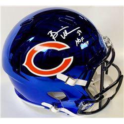 """Brian Urlacher Signed Bears Full-Size Blue Chrome Speed Helmet Inscribed """"HOF 2018"""" (JSA COA)"""