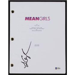"Lizzy Caplan Signed ""Mean Girls"" Full Movie Script (Beckett COA)"