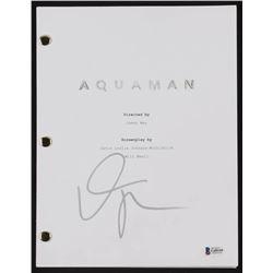 Willem Dafoe Signed  Aquaman  Full Movie Script (Beckett COA)