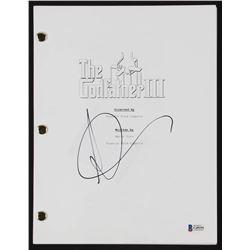 Andy Garcia Signed  The Godfather III  Full Movie Script (Beckett COA)